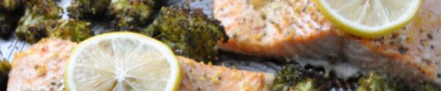 Garlic Roasted Salmon and Broccoli